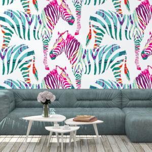 Fototapet-Colorful-Zebra