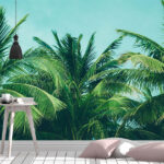fototapet-palm-trees-on-the-sky