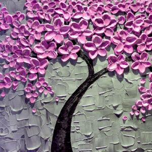 Fototapet-3D-copac-abstract-cu-flori (2)