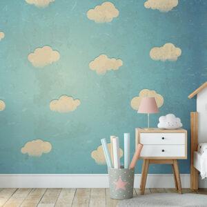 Fototapet-pentru-copii-Abstract-Clouds