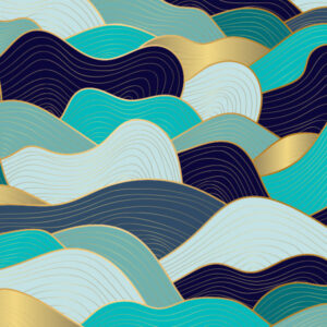 Fototapet-Abstract-Gold-Waves