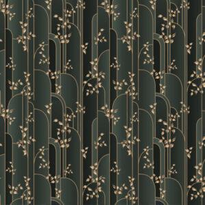 Fototapet-Art-Deco-Gold-Leaves