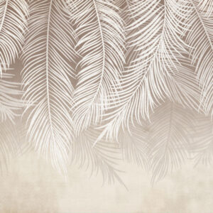 Fototapet-Mural-Beige-Palm-Leaves