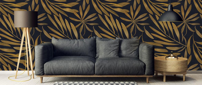 Fototapet-Art-Deco-Floral-Pattern