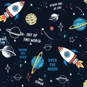 Fototapet-pentru-copii-Cartoon-Space
