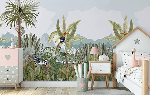 Fototapet-pentru-copii-Wonderful-Jungle